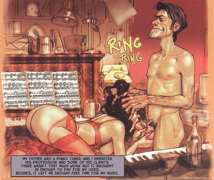 The Piano Tuner Adult Comics