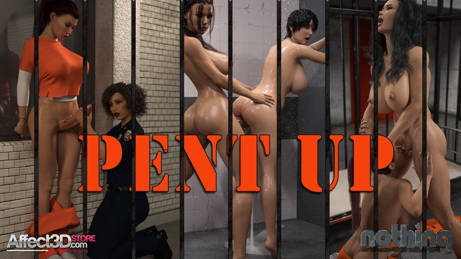 Pent Up  (Dialogue & No Dialogue) 3D Adult Comics