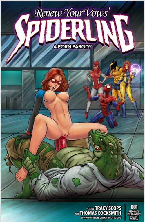 SPIDERLING Adult Comics