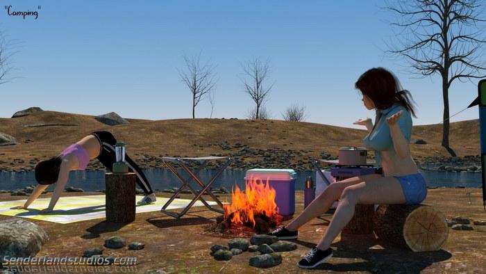 Camping 3D Adult Comics