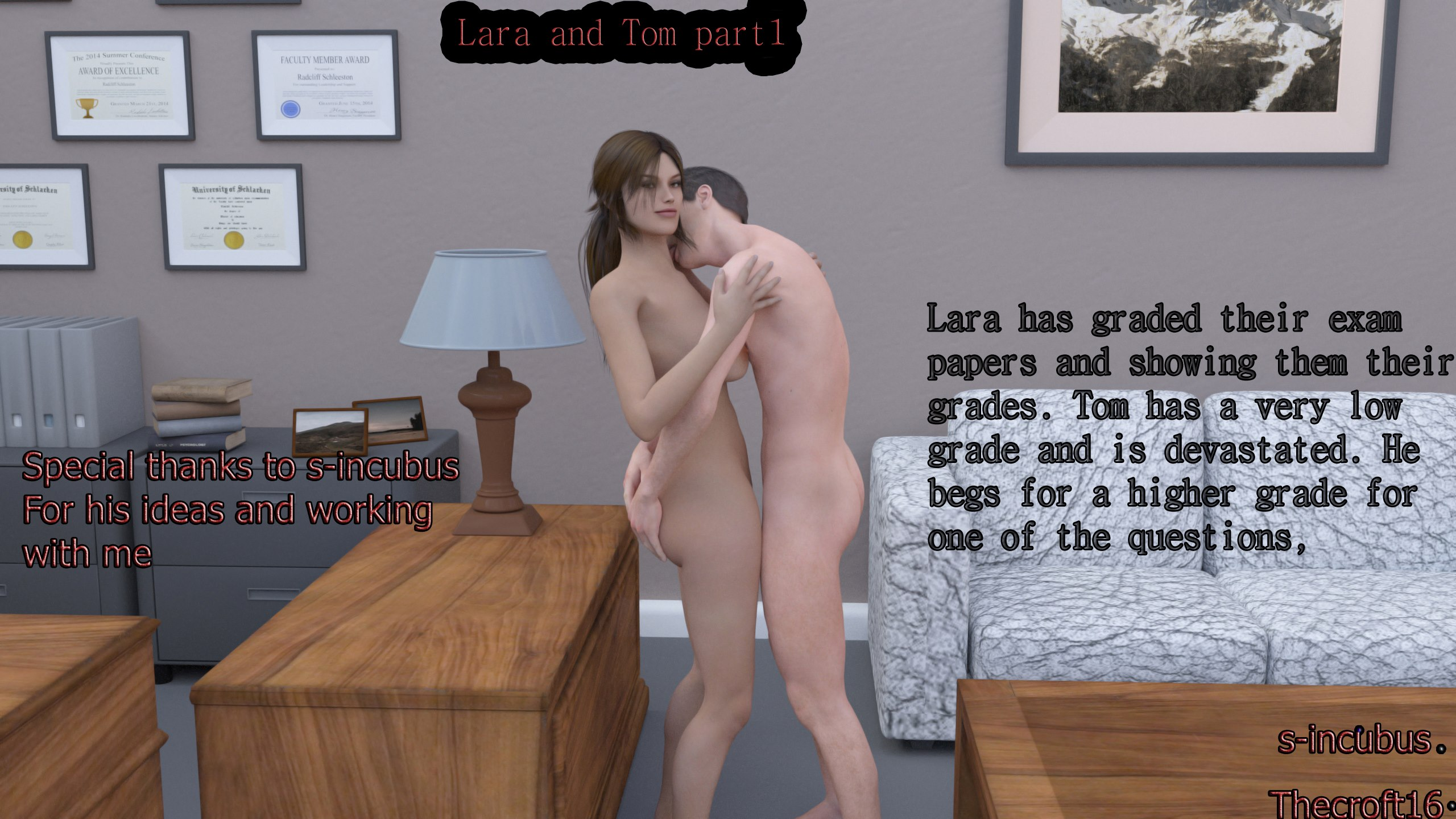 Lara And Tom Part 1 3D Adult Comics