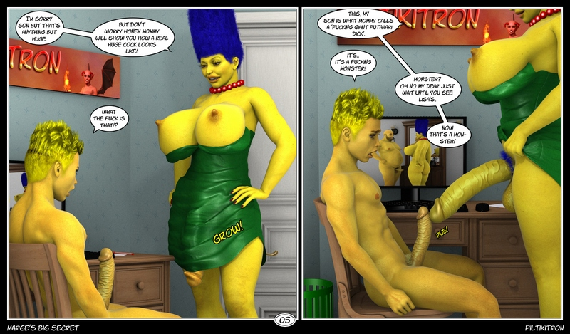 MARGES BIG SECRET 3D Adult Comics
