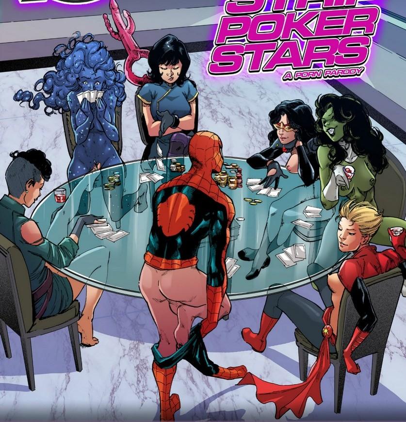 A-Force - Strip Poker Stars Adult Comics
