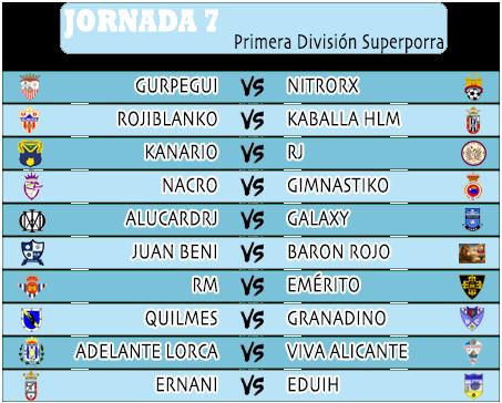 :: Pronósticos Jornada 7 (6-7 Octubre) :: JORNADA7PRIMERA