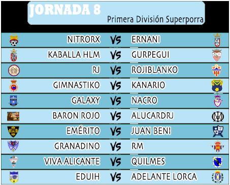 :: Pronósticos Jornada 8 (13-14 Octubre) :: JORNADA8PRIMERA