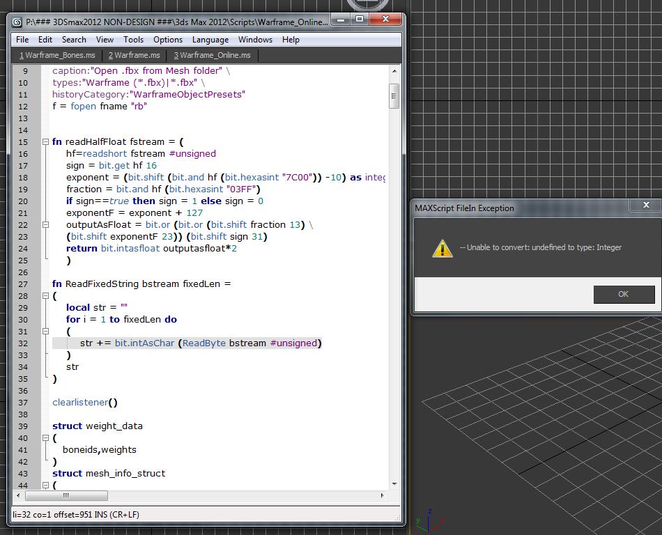 XeNTaX • View topic - Warframe Online MaxScript