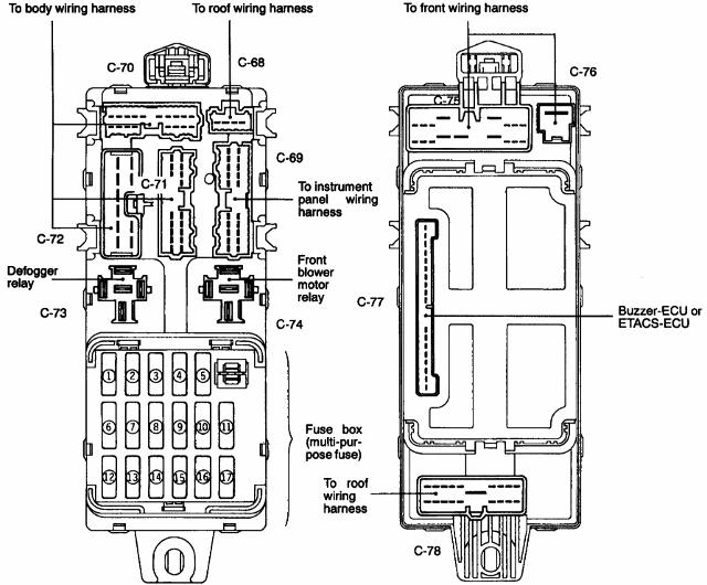 1996 mitsubishi montero fuse box diagram mitsubishi delica owners club uk™ :: view topic - l400 fuse box translations