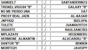 :: Pronósticos Jornada 5 (24-25-26 Septiembre) :: INTERSEMANAL 850J5