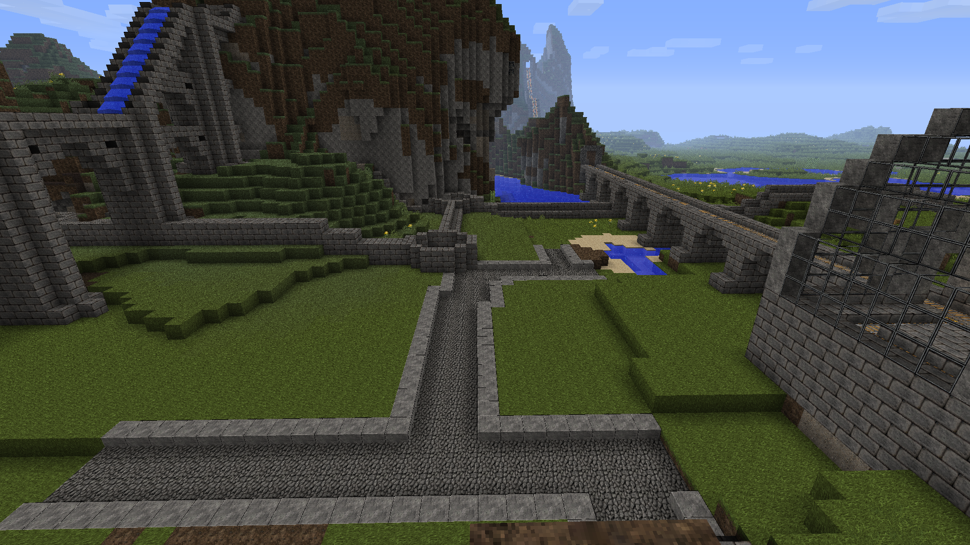 Yet Another Medieval Town WIP With Aquaduct Castle Harbor And