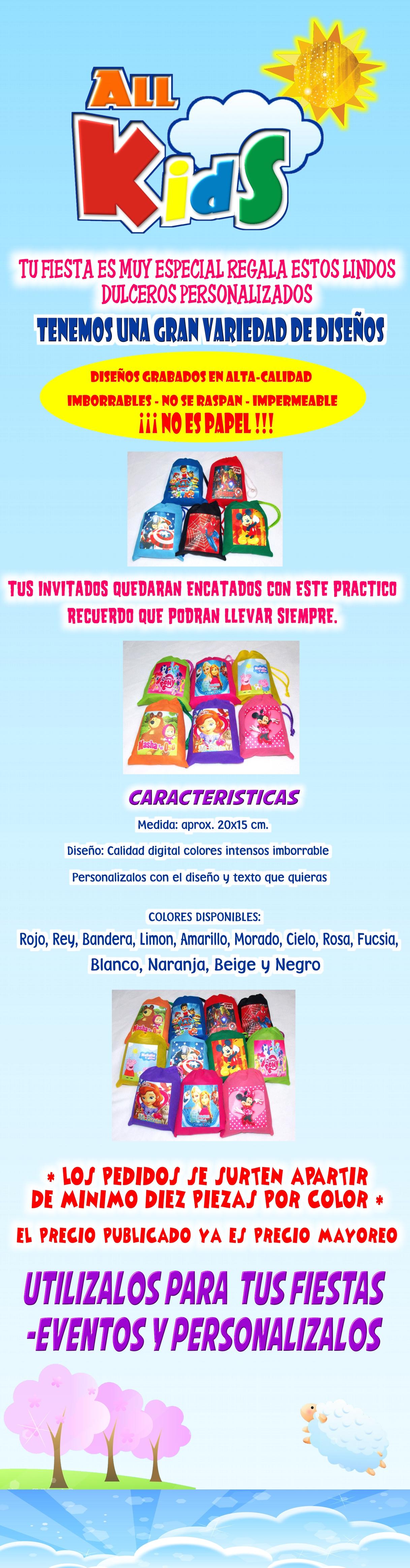 Costalito Morral Lapicero Personalizado Dulcero Bolo Recuerdo Aguinaldo Cotillon Fiesta Infantil Bautizo Baby Comunion Presentacion Evento