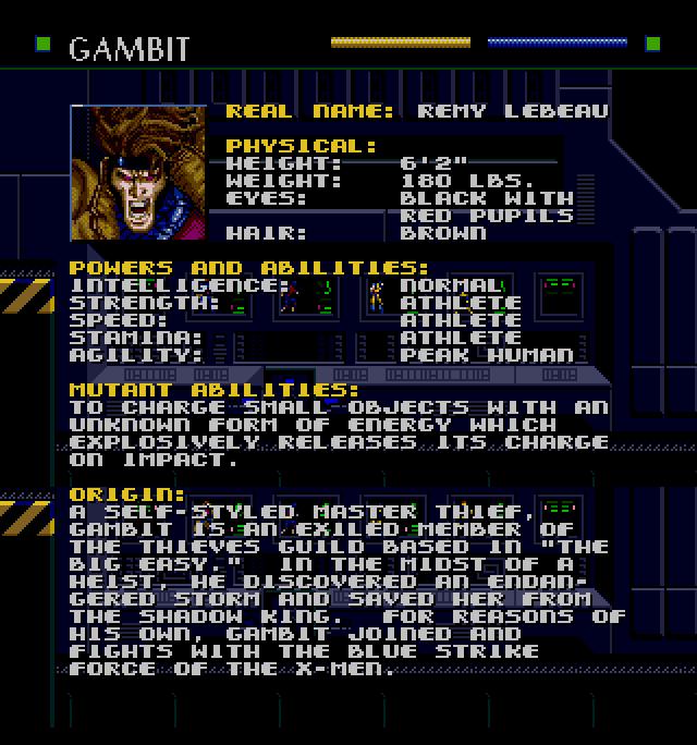 gambit dossier x-men genesis