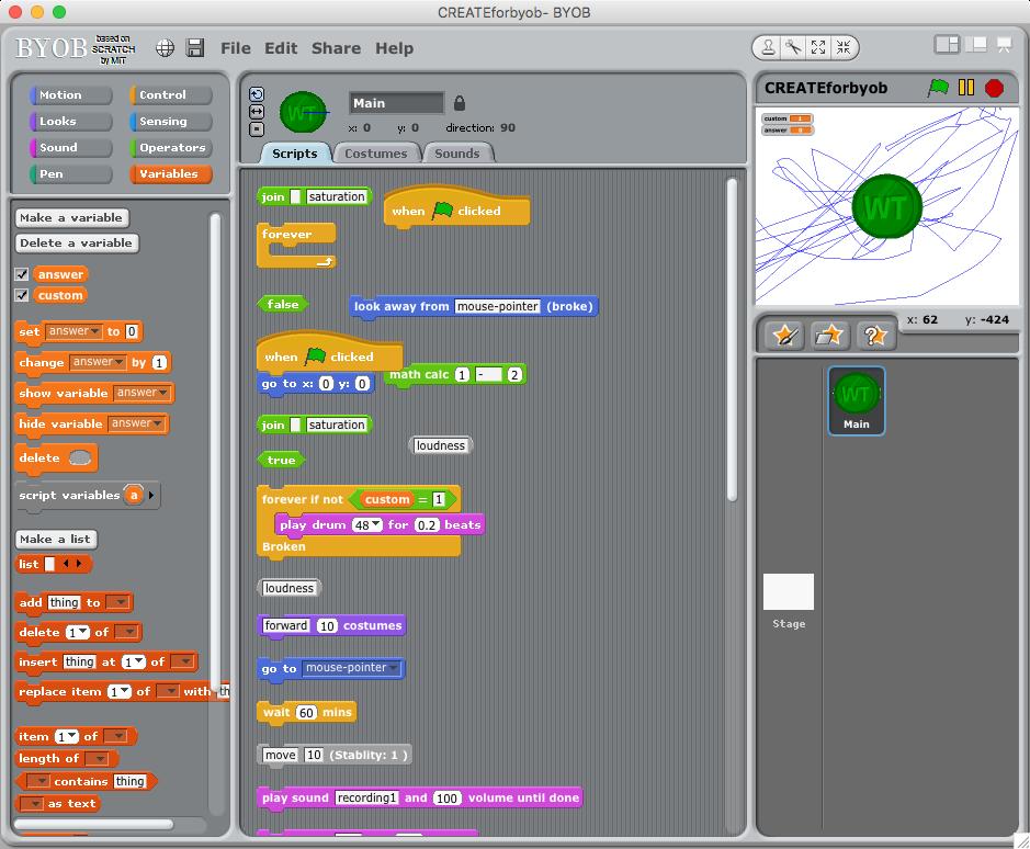 Total members in creating learning scenarios using scratch, byob.