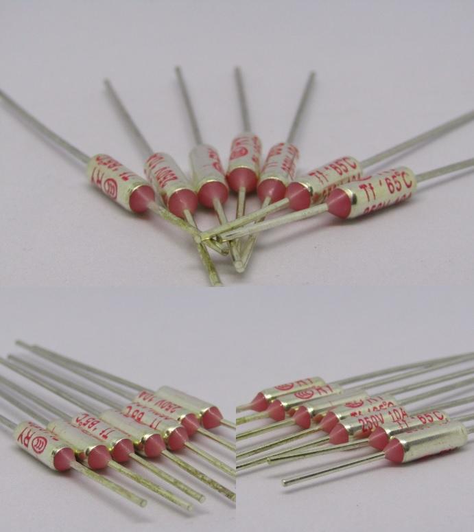 RY Fuse Temperatu Thermal 250V 10A 72C to 285C or 161.6F to 545F Axial amp 10amp