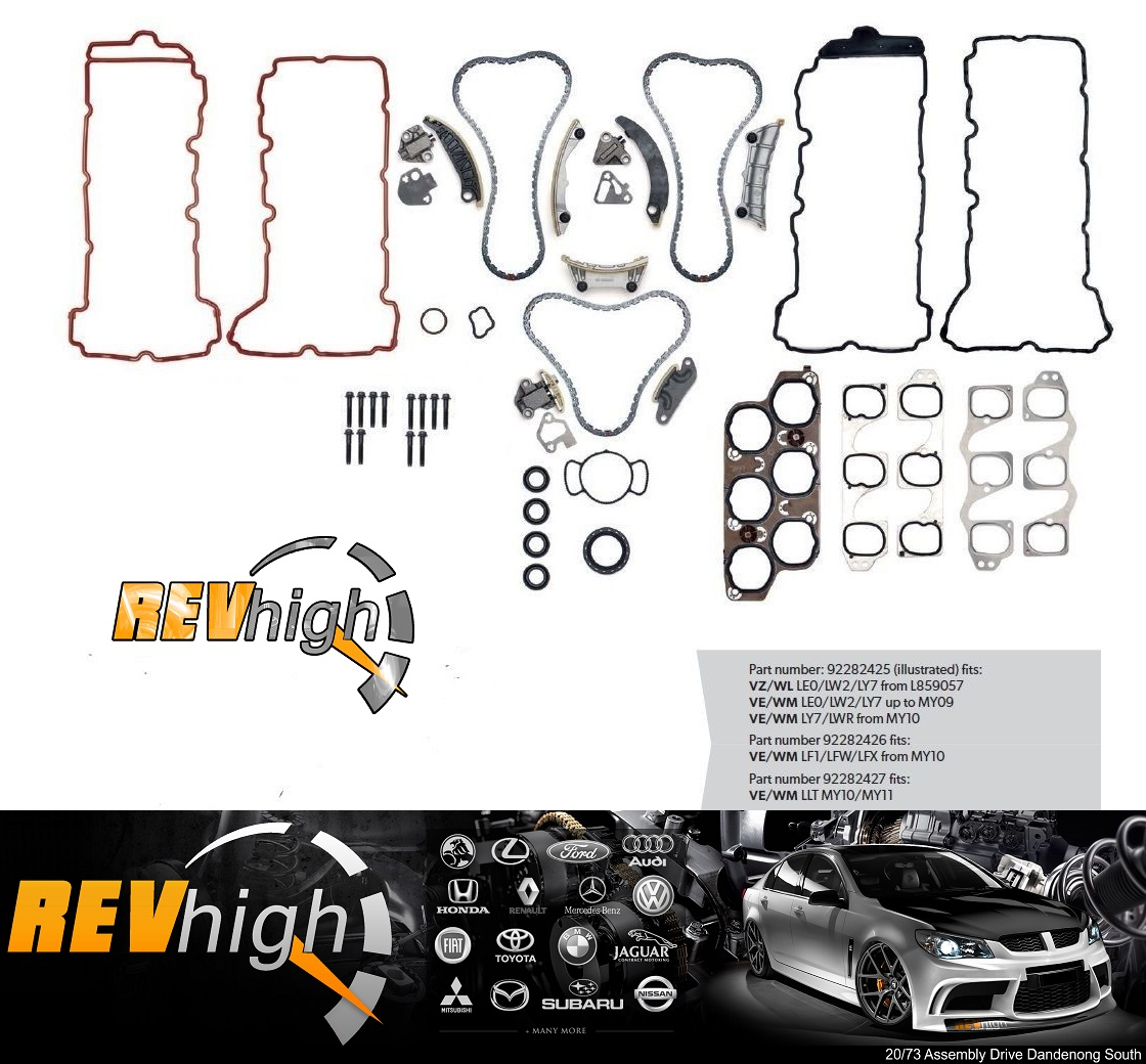 VZ VE VF Premium Timing Chain kits and install $999 supply