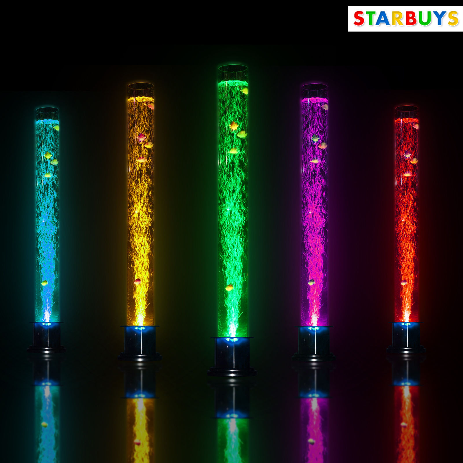 Large 150cm 5ft bubble fish water tube lamp changing led for Bubble fish lamp